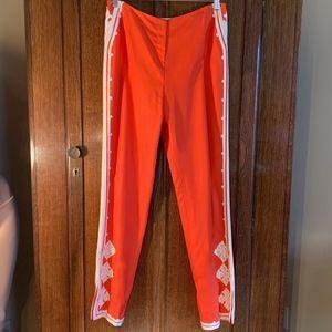 Oscar de la Renta silk vintage trouser sz 10